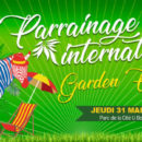 Affiche de la Garden Party à Montpellier.
