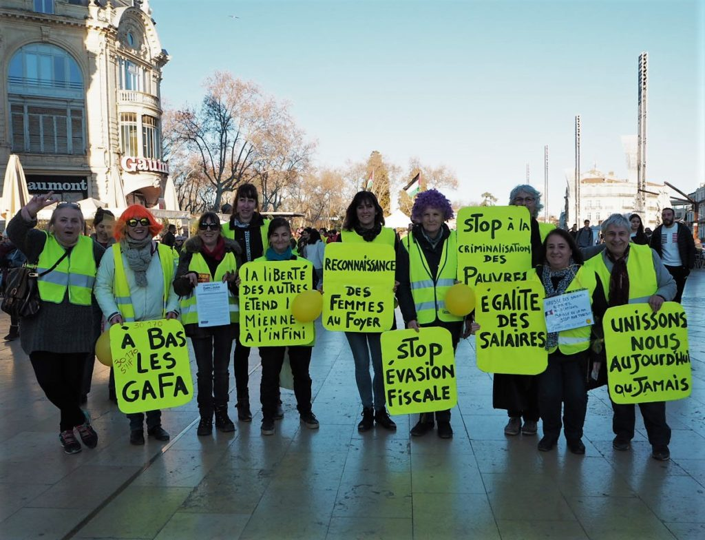 Women put forward the requests of the Yellow Vest movement.